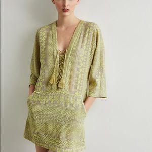 Bcbg maxazaria Milana Embroidered Gauze Dress